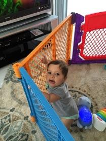 Evie in Play yard